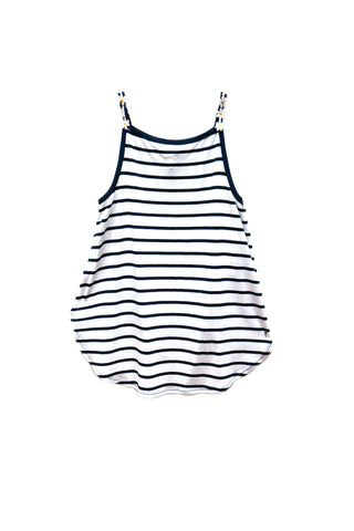 Daisy & Stripe Hi Low Tank Top