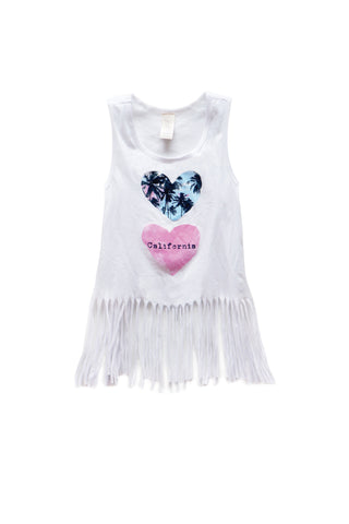 California Lovin' Fringe Tank Top
