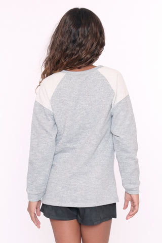 Raglan Chic Quilted Sweater