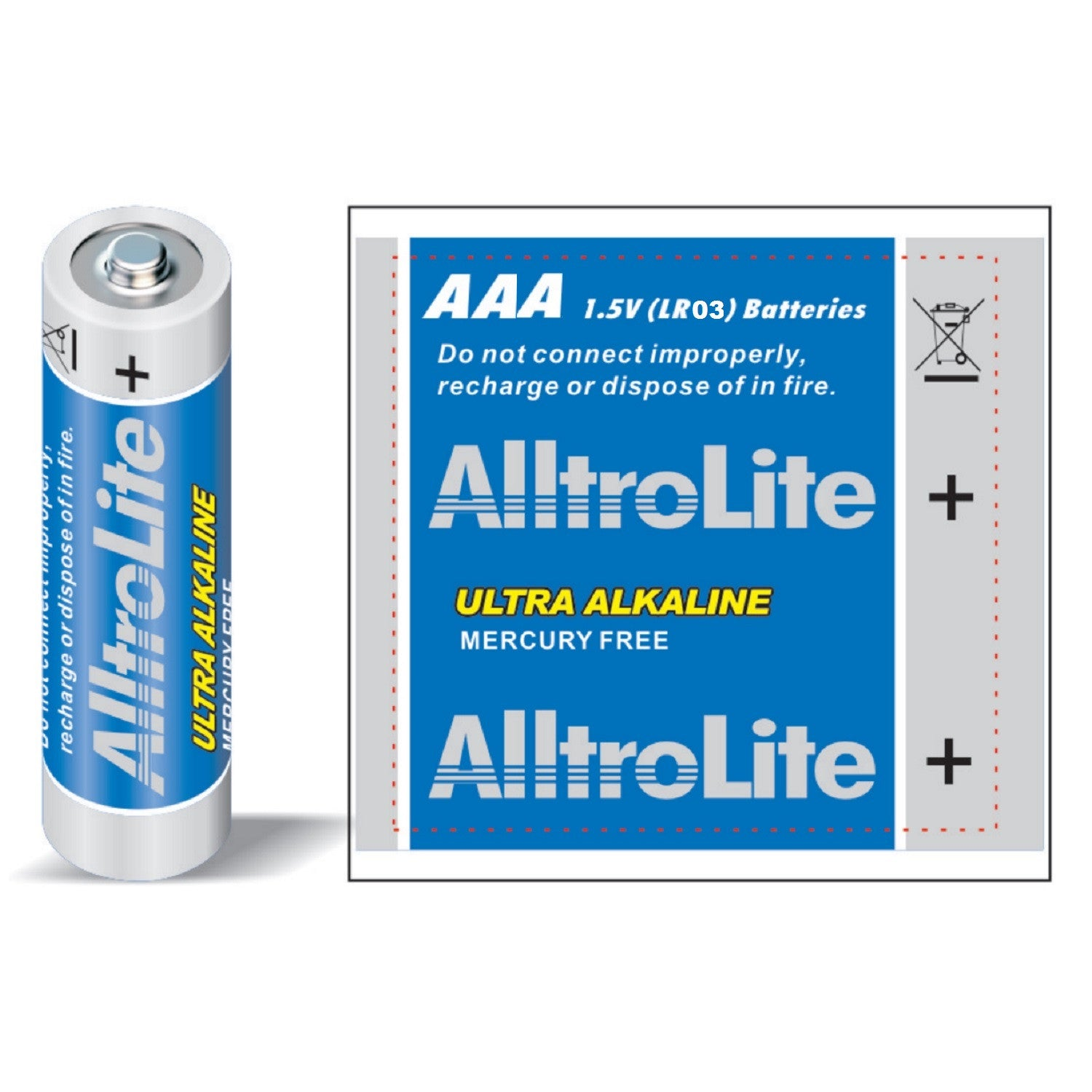 AAA Alkaline Battery 4 Pack - alltrolite
