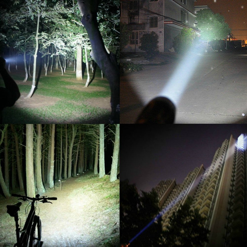 600 Lumens LED Tactical Flashlight [ 2-PACK ]