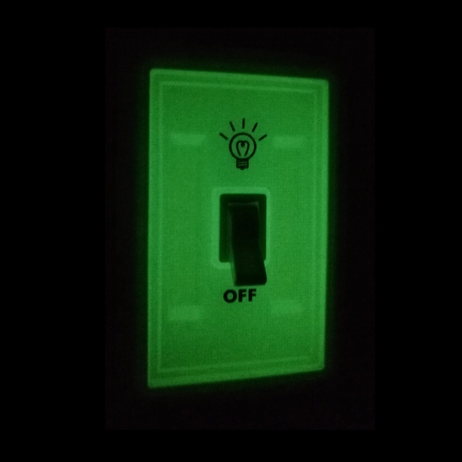 Glow In The Dark COB LED Cordless Light Switch - alltrolite