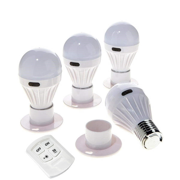 4 Pack Alltro Bulb Portable Wireless COB LED Light Bulb with Remote