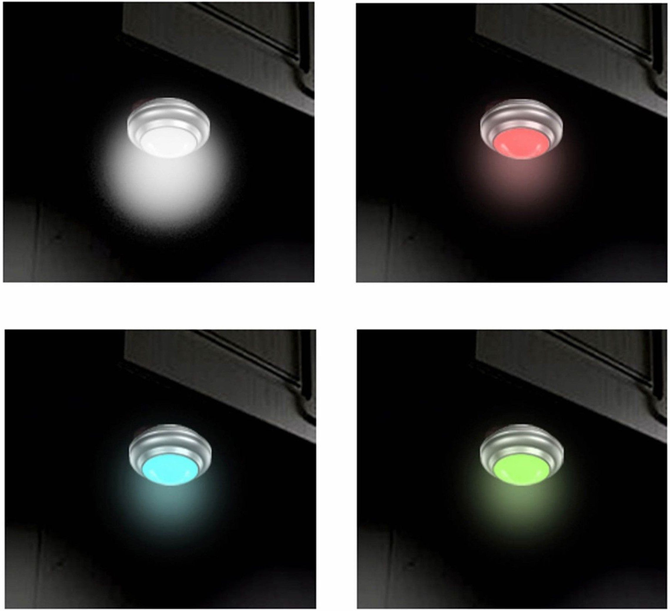 PL10 Wireless Color Changing LED Puck Light with Remote Control | LED Under Cabinet Lighting | 2-Pack