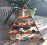Magical Triangle Shelf, Pyramid Shelf, Crystal Bone Skull, Mother Earth Skull, For Triangle Shelf Display, Trinity Triangle Shelf