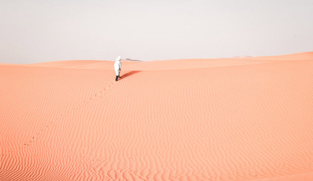 pink sand photo taken by outdoor photographer