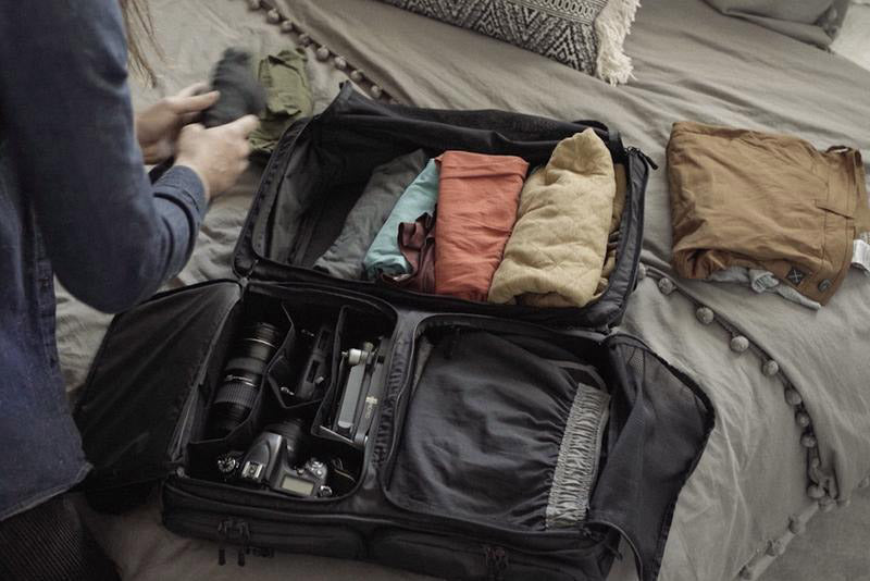 packing with camera equipment