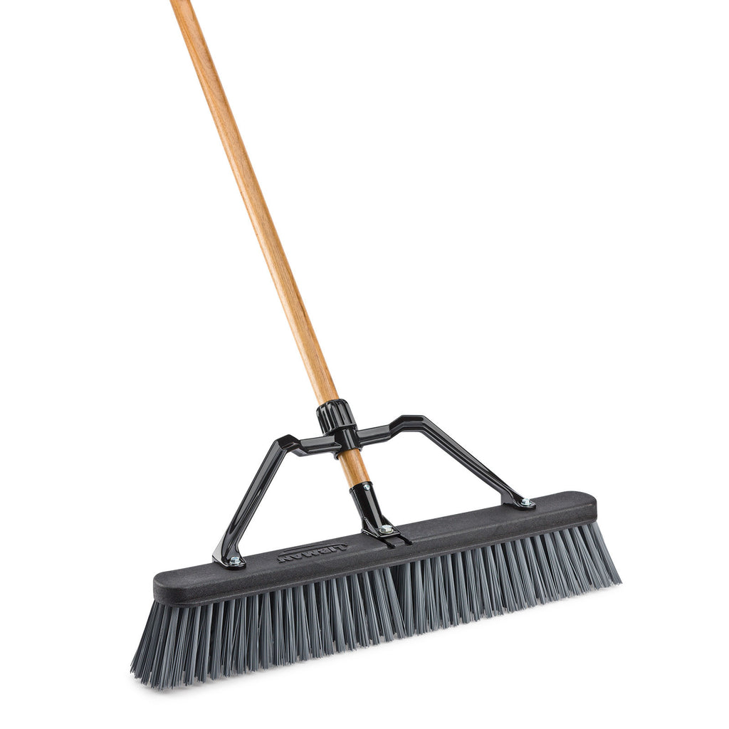 "24"" Rough Surface Industrial Push Broom"
