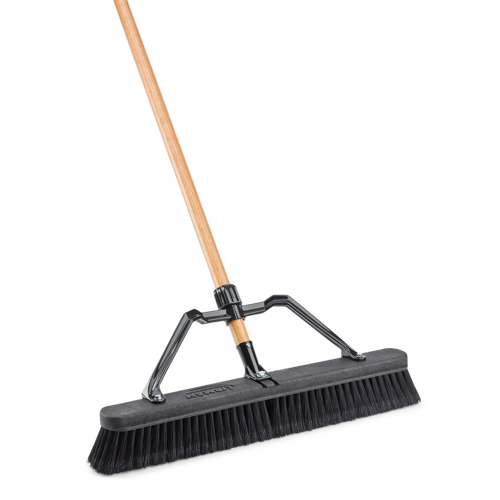 "24"" Smooth Surface Industrial Push Broom"