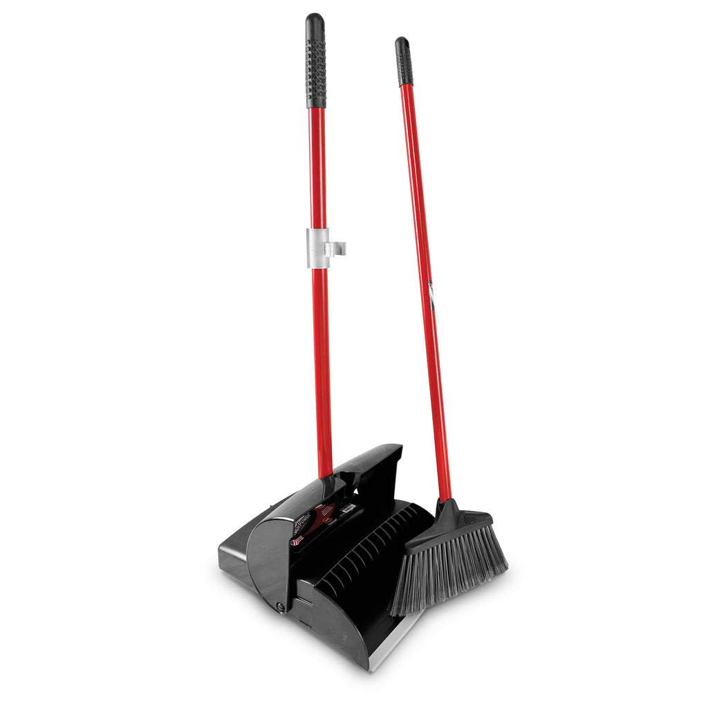 Deluxe Lobby Dust Pan & Broom (Closed Lid)