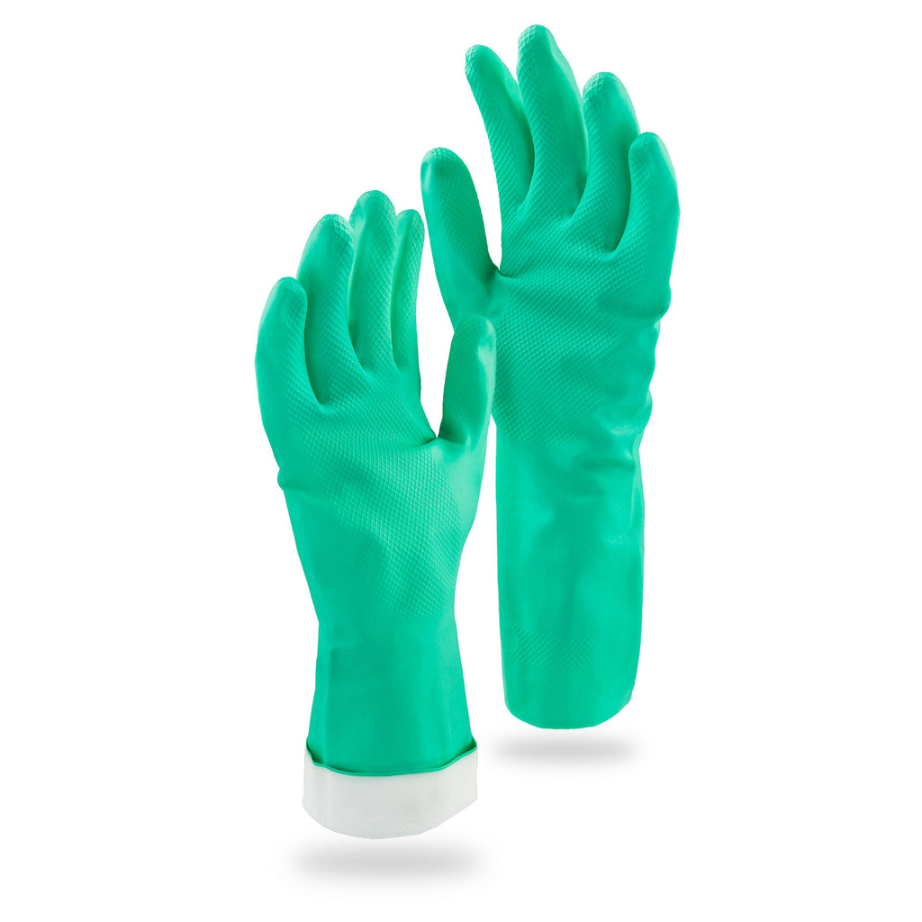 Heavy Duty Reusable Nitrile Gloves - Small