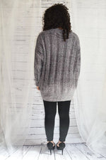 Snuggle Soft & Comfty - Ash Grey Oversized Chenille Sweater