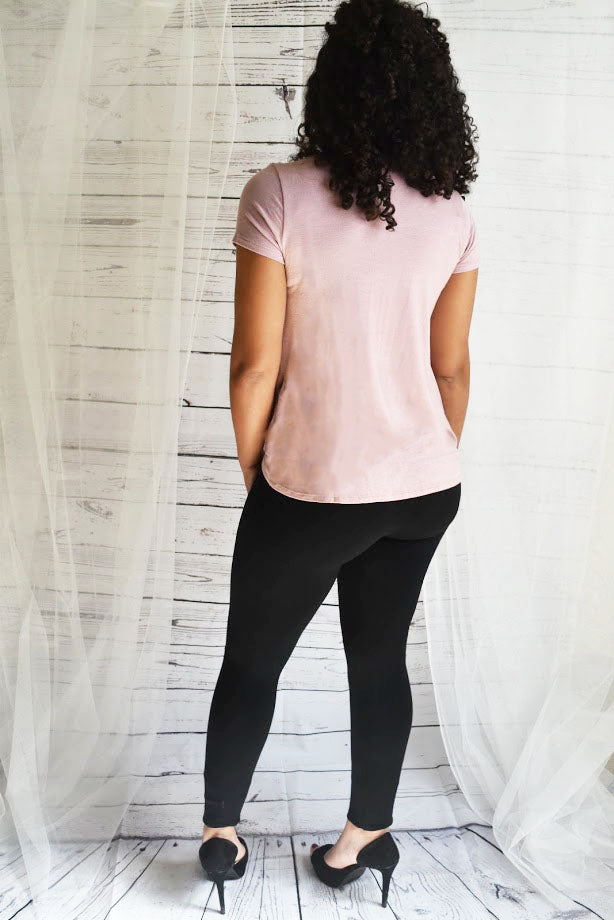 Love Me Forever - Pink Twist Top