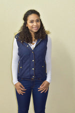 Winter Fashion - Navy Vest