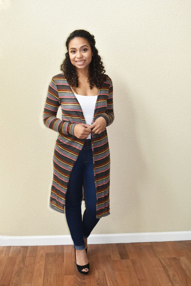 Show Time - Striped Cardigan