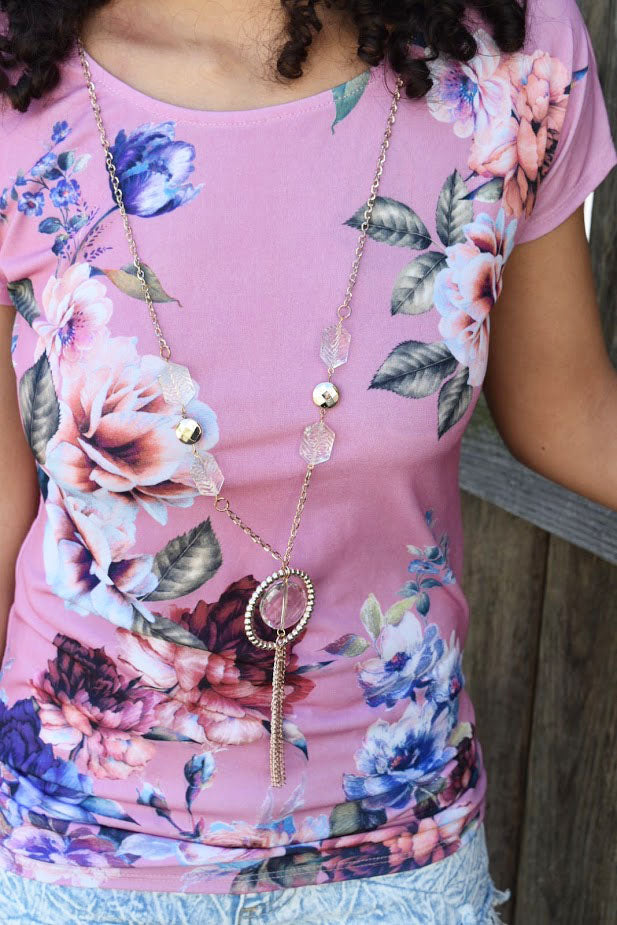 Floral in Love - Comes with Necklace