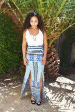 She's an Aqua Gem - Maxi Dress