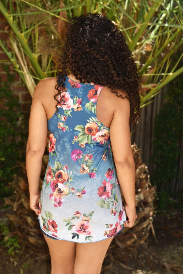Floral Ombre Spectacular - Tank