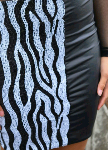 Sequin Zebra  - Dress