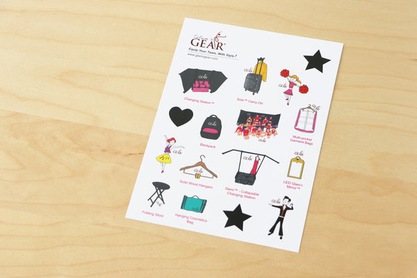 Glam'r Gear Jelly Stickers