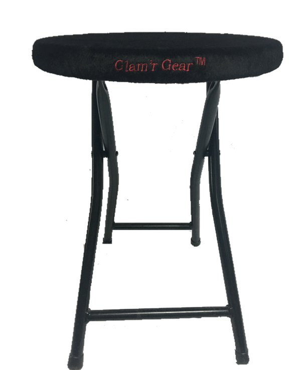 Black Super Sturdy Folding Stool - Glam'r Gear