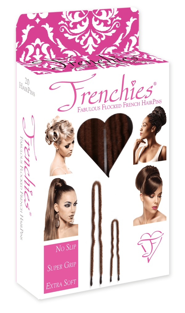Frenchies Fabulous Flocked French Hair Pins