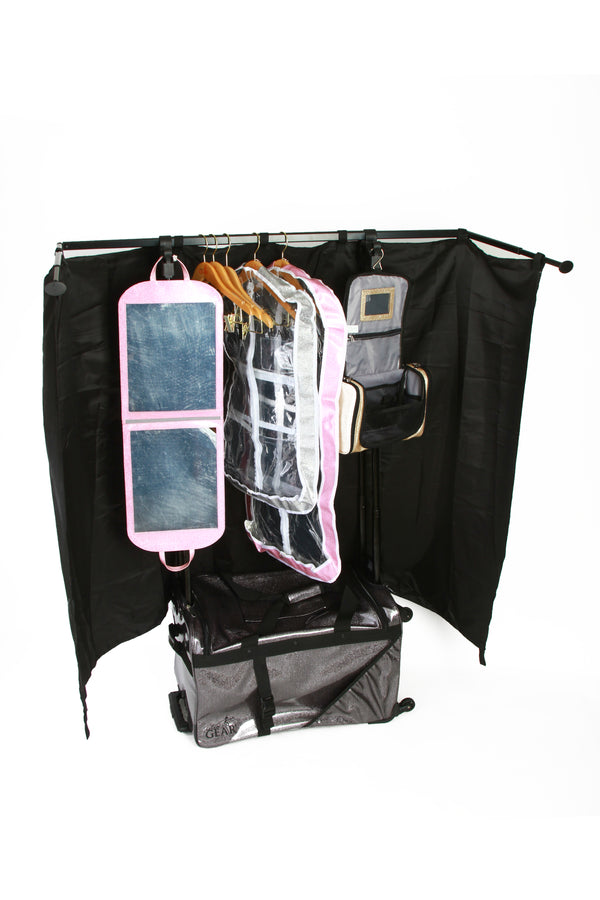 glamr gear changing station dance bag with rack performance bag