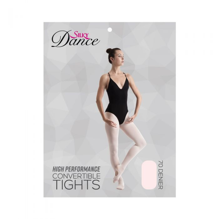 Silky Dance High Perf Convertible Tights - Theatrical Pink - Glam'r Gear