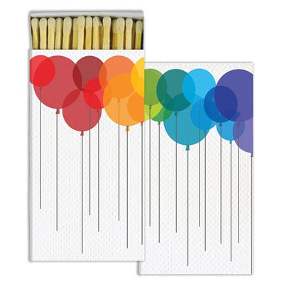 Long Matches -Balloon Rainbow Design - Decor - George & Augie
