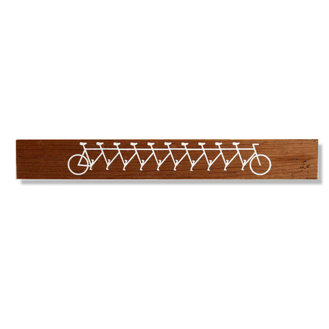 10 Person Bicycle Shelf Sitter - Hand Screen Print - Reclaimed Detroit Wood - Decor - George & Augie