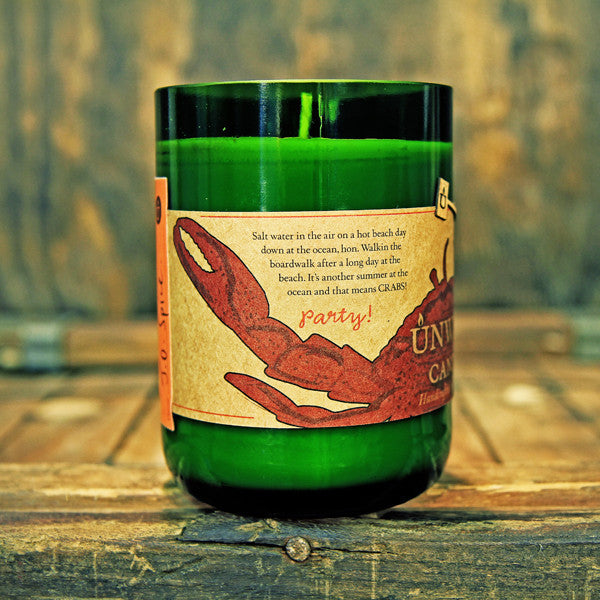 Crab Wine Bottle Soy Candle 12oz - Decor - George & Augie