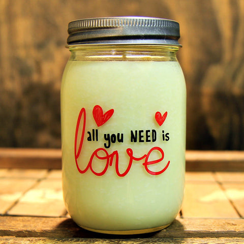 All You Need Is Love Vanilla Bean Soy Candle 16oz - Decor - George & Augie
