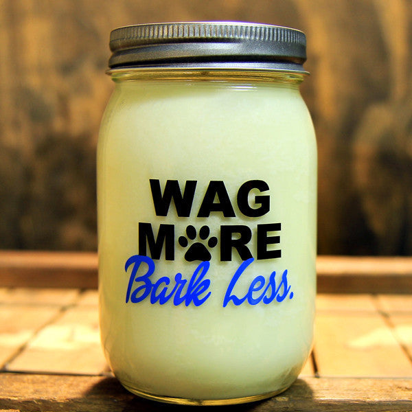 Wag More Bark Less 5 O'Clock Soy Candle 16oz - Decor - George & Augie