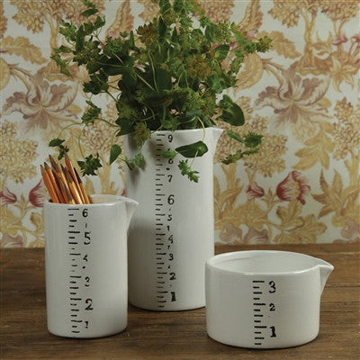 Ruled Ceramic Pitchers - Short - Decor - George & Augie