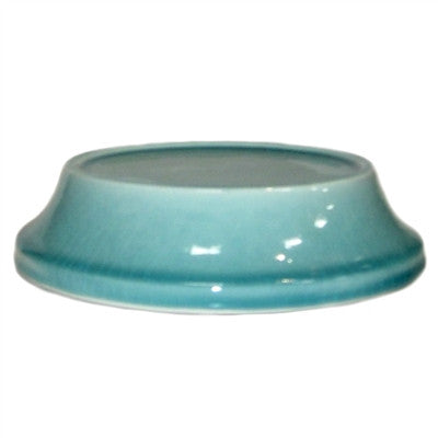 Parisian Ceramic Plate - Crackled Finish - Aqua - Decor - George & Augie