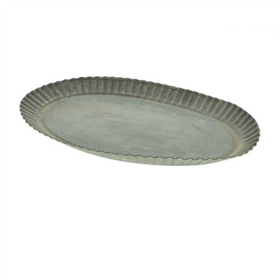 Ross Flared Metal Tray - Oval - Decor - George & Augie