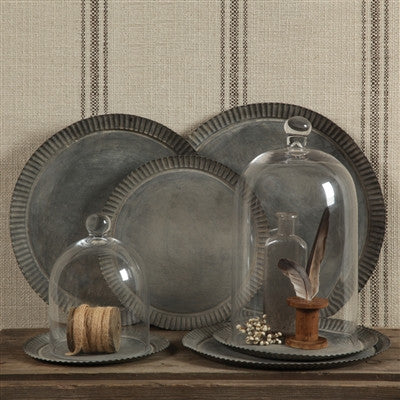 Ross Flared Metal Tray - Round - Decor - George & Augie