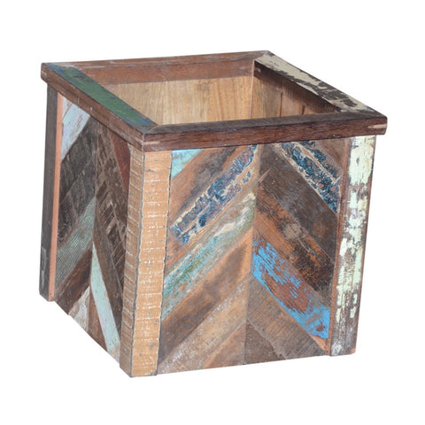 Wood Square Planter - Decor - George & Augie