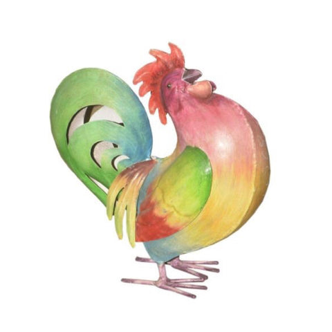 Iron Painted Chicken - Decor - George & Augie