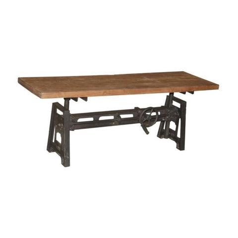 Iron with Wood Coffee Table - Furniture - George & Augie