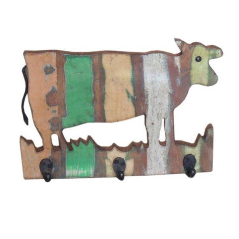 Wooden Cow Hanger - Decor - George & Augie