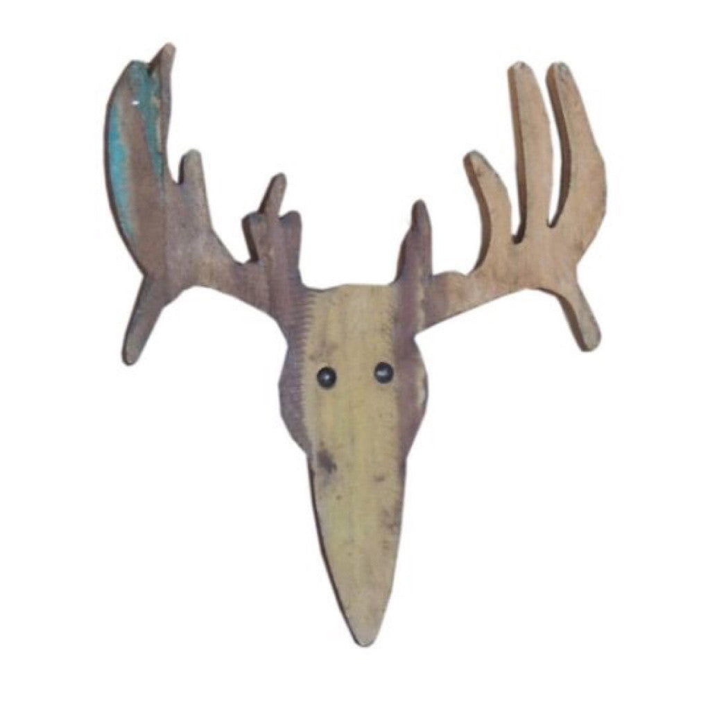 Wooden Deer Face - Decor - George & Augie
