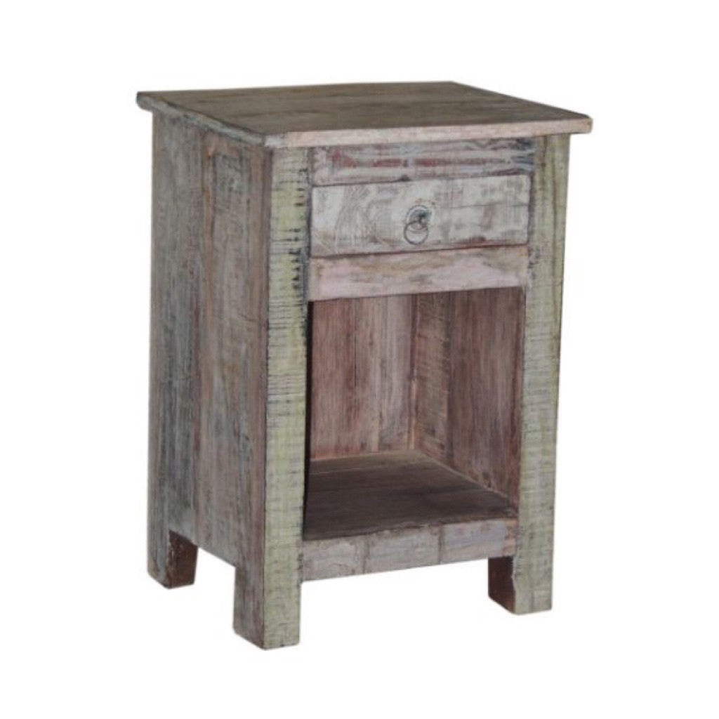 Relcaimed Wood Side Table - Furniture - George & Augie