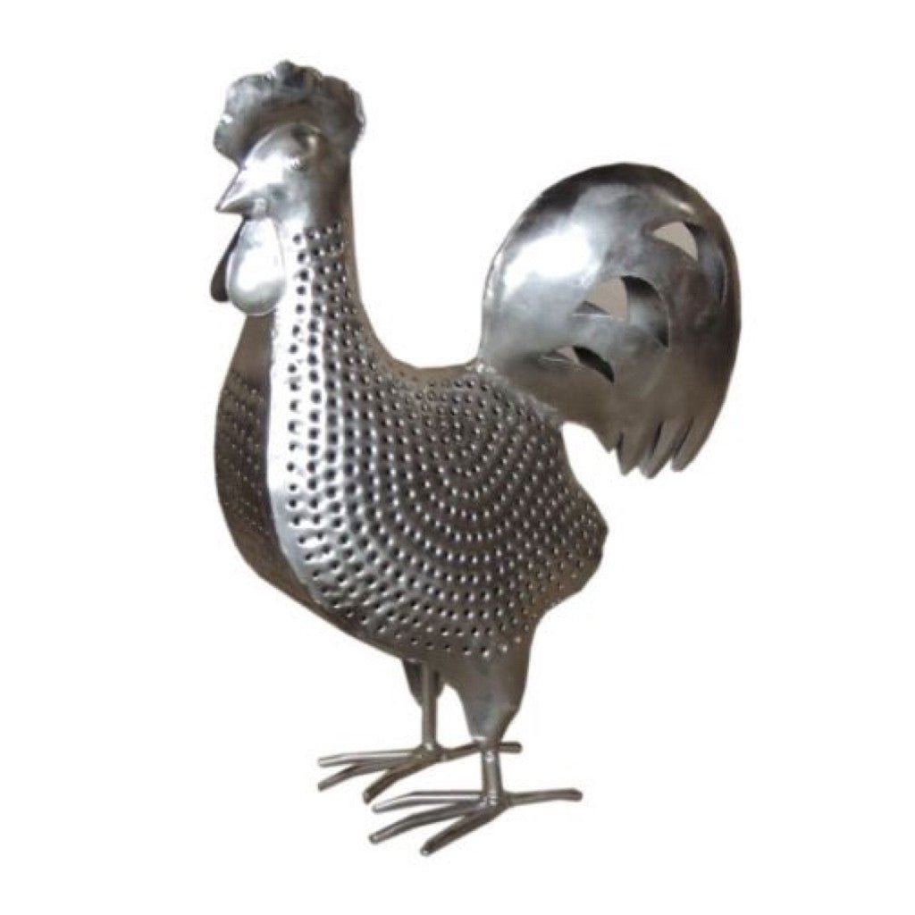 Tea Light Iron Rooster - Decor - George & Augie