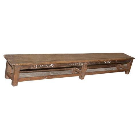 Low Antique Bench - Furniture - George & Augie