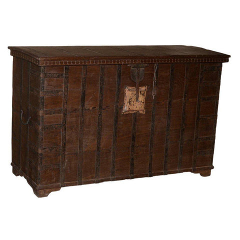 Wood Console Trunk - Furniture - George & Augie