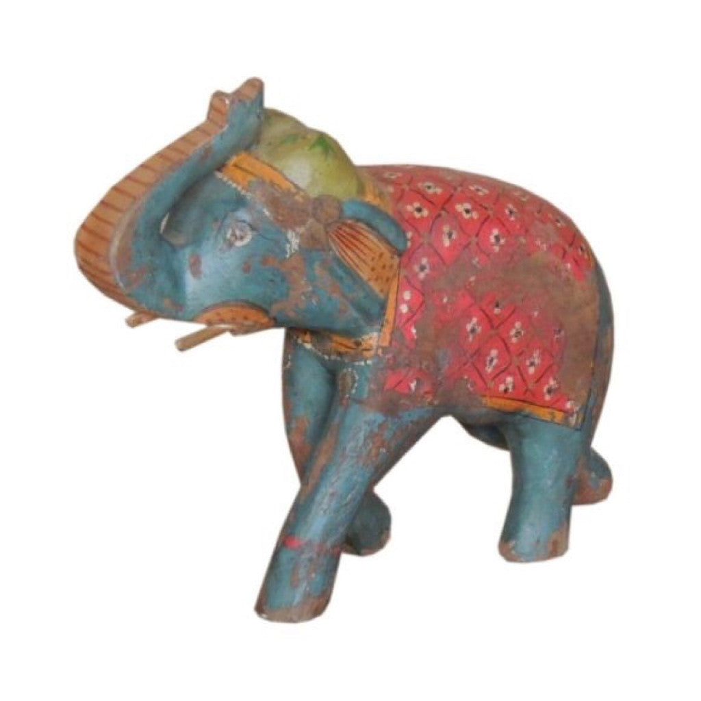 Wooden Painted Elephant - Decor - George & Augie