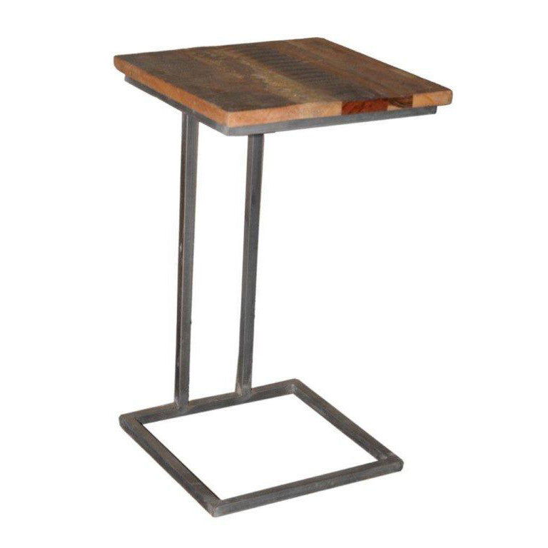 Wood and Metal Side Table - Furniture - George & Augie