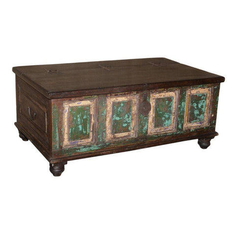 Antique Trunk with Reclaimed Top - Furniture - George & Augie