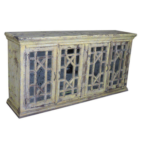 Antique Glass Sideboard Cabinet - Furniture - George & Augie